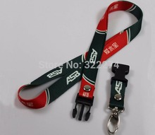 100pcs/lot  free shipping Heat Transfer keycords lanyards custom made polyester 20mm width 2cm detachable lanyard