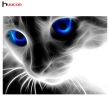 Art DIY 5D Diamond Mosaic Blue-eyed Cats Handmade Diamond Painting Cross Stitch Kits Diamond Embroidery Patterns Rhinestones 408