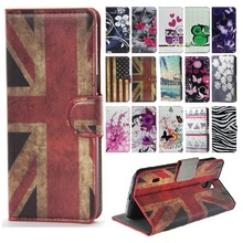 Retro UK Logo Leather Case for Microsoft Nokia Lumia 550 Wallet Card Holder PU Leather Cover Stand Case Black Phone Housing