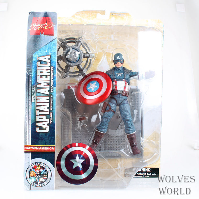 (3pcs/pack) Wholesale MARVEL The Avengers Captain America Steven Rogers 19cm PVC Movoe Action Figure Model Toy New In Box<br><br>Aliexpress