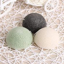 1PC Natural Konjac Konnyaku Facial Cosmetic Puff Face Powder Cleanse Washing Exfoliator Cleansing Makeup Sponge Green/Black