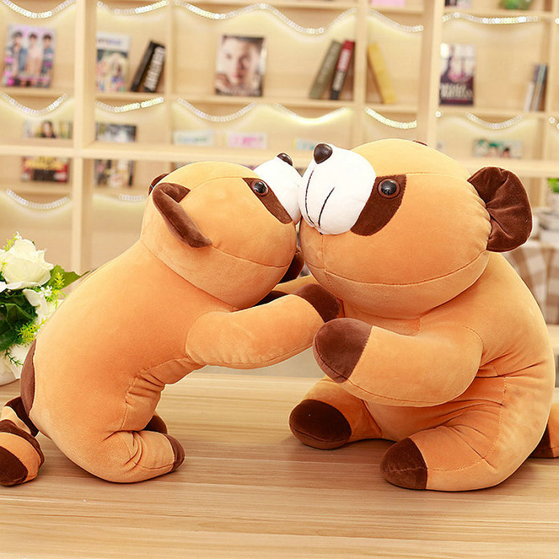 1 piece/lot 40-65cm Cartoon brown raccoon plush toys stuffed plush soft PP Cotton bear cloth doll birthday gift for Child kids(China)
