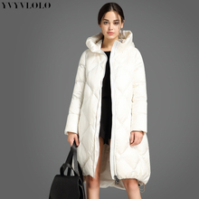 women coat Winter Jacket Women Cotton long down jacket 2017 asymmetric length Warm winter parka women High Quality Outwear(China)