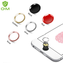 chyi brand Button Sticker for iPhone 7/6S/6, 7/6S/6 Plus, SE/5S Aluminum Touch ID Home with Fingerprint Identification Function(China)