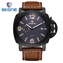 SKONE Small Seconds Dial Sport Watch Men Best Brand Luxury Mens Quartz Watch S-Shock Watches Shocker Relogio Masculino XFCS Saat