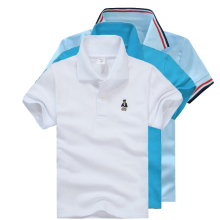 High Quality All-Match Unisex Boy Polo shirts for Kids  Summer Toddler Big Boy Tops Girls T shirt  Cotton White Blue shirts