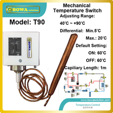 40 to 90 mechanical Temperature Switch for hot water supply automatically by heat pump water heater temperature control