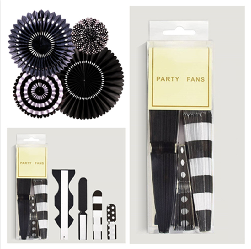 4 paper fan-black