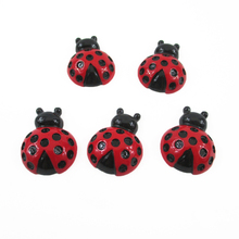 27*21*10mm ladybug 3d resin 25 pieces, diy holiday decoration crafts accessories handmade materials, wedding gift wrap,25Y8190