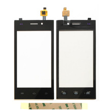 Black Mobile Phone Touch Panel Glass For Highscreen Zera F Touch Screen Digitizer Sensor Touchpad Replacement Touchscreen(China)