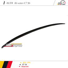 S6 Design style Carbon Fiber Auto Tuning Spare Parts Car racing kit Rear Wing Spoiler for audi A6 C7 2013-2016
