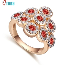 OTOKY Gussy Life 2017 Fashion Alloy Ring for Lovers Crystal Ring Women Jewelry Mar23