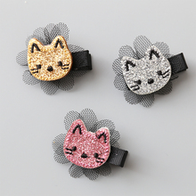 New Korean Creative Cartoon Animal Lovely Baby Clip Girls Hairpins Kitten Cat Hair Clips Kids Children Accessories(China)