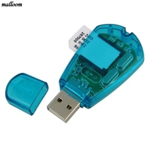 USB Sim Card Reader Writer Cellphone SMS Backup Adaptor Mobile Phone SMS Edit Copy Backup GSM CDMA Blue(China)
