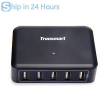 [Spain & China Stock]Tronsmart UC5P1 5 Port 40W 8000mA Smart Charger VoltIQ For iPad/iPhone/Android/Windows Tablets - EU Plug