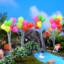 Kawaii Home Decoration Accessories Micro Landscape Colorful Balloons Miniature Garden Craft Cake Decorations Figurine S3(China)