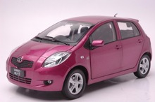 1:18 Diecast Model for Toyota Yaris 2008 Purple Alloy Toy Car Collection(China)