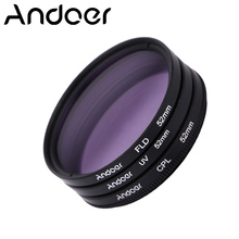 Andoer 52mm UV+CPL+FLD Circular Filter Kit for Nikon Canon Pentax Sony DSLR Camera Circular Polarizer Filter Fluorescent Filter