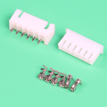 Free Shipping 100sets terminal set socket connector leads Heade 2.54mm XH-6P (male&female Housing+Terminal)