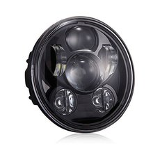 "Hot sale 5-3/4"" 5.75"" Round LED Projection Daymaker Headlight  45W High/low Beam 12v LED Headlight for Harley bike black"