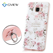 Gview 3D Relief Print Soft TPU Back Cover Case For Samsung Galaxy C5 C5000 Phone Bag Luxury Coque Fundas For Galaxy C5(China)