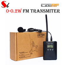 CZE-T200 0-0.2W Portable FM Transmitter radio broadcast Stereo/Mono Power adjustable for Meeting/Tourism/Church/School(Hong Kong)