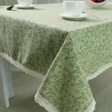 New Arrival Table Cloth Korean Fresh Green High Quality Cotton Lace Universal Tablecloth Decorative Table Cover Hot Sale
