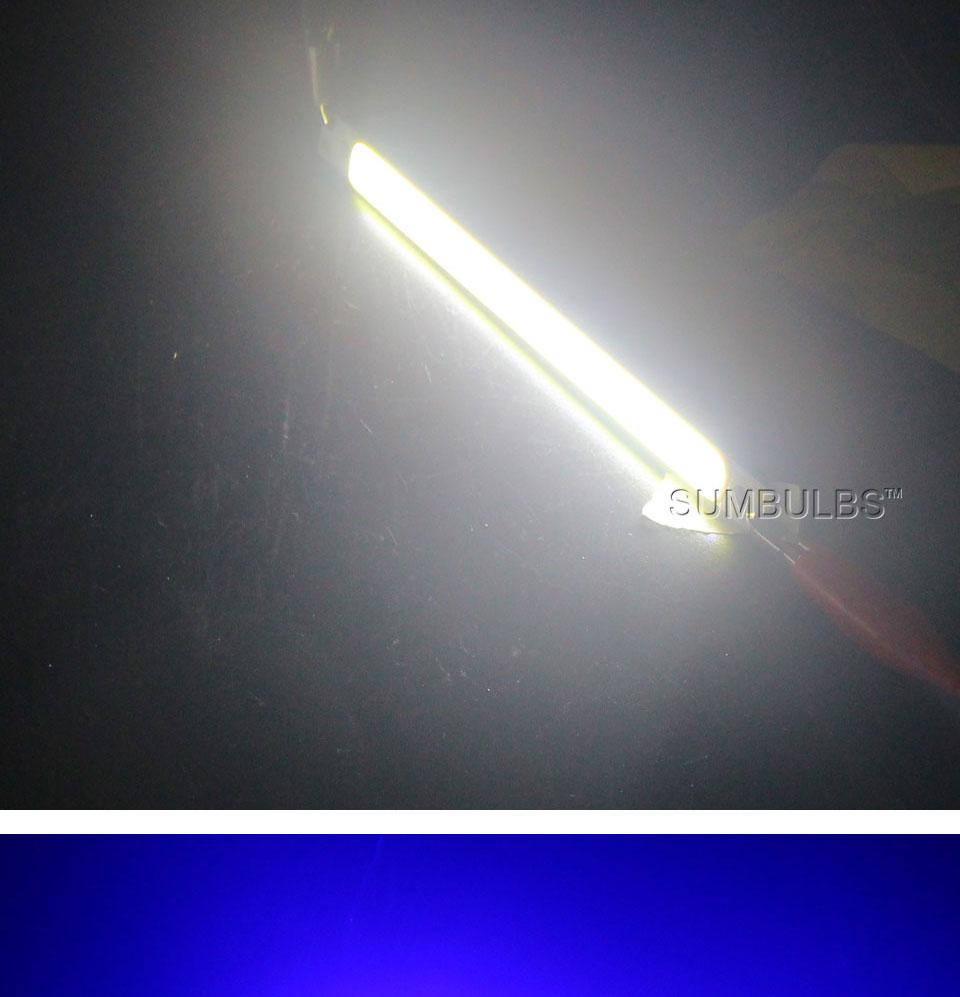 120mm 12v 10w 1000LM cob led light strip chip bulb lamp red blue white (10)
