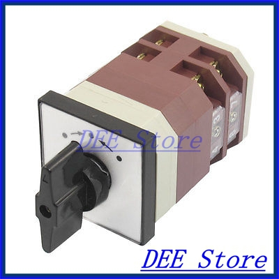 Moemntary 3 Postion Rotary Selector 4 Terminals Universal Changeover Switch 16A<br><br>Aliexpress