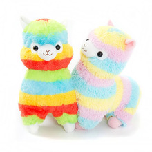 1pc 35cm Rainbow Alpaca Plush Sheep Toy Japanese Soft Plush Alpacasso Kids 100% Stuffed Animals plush Toys Gifts Hot Sale(China)