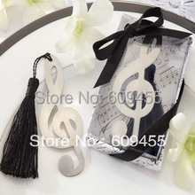 "30pcs/lot+Small Order ""Timeless Duet"" Brushed-Metal Openwork Bookmark with Elegant Silk Tassel Wedding Favors+FREE SHIPPING"