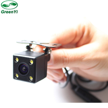 Free Shipping, Waterproof 4 LED Night Vision Car CCD Rear View Camera Reverse Camera With 3 Glass Lens For Auto Parking Monitor