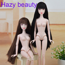 Hazy beauty Brown hair Original Chinese Nude Doll / White Skin 14 Joints moveable /with head and body For Xinyi doll BBI00XY5(China)