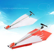 New Fashion Children Educational Learn Toys DIY Vehicles Power up Electric Paper Plane Flying Airplane Conversion kit