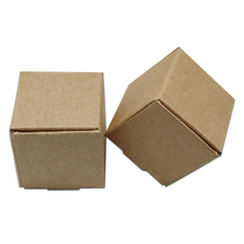 Various Dimension Natural Brown Kraft Paper Box Vintage Jewelry Small Gift Packing Boxes for Handmade Soap Packaging Paper Boxes(China)