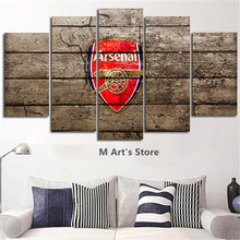 5Piece Wall Art Modular Picture Arsenal Football Club Nordic Poster Print Posters Printed Wall Decor Pictures Art Painting(China)