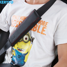 Leather Car Seat Belt Pad Auto Belt Cover Child Restraint In The Car Harness Shoulder Pads Interior Protective Cover For Kids()