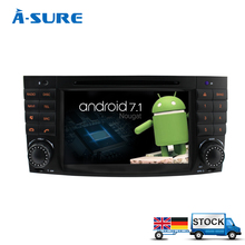 A-Sure Android 7.1 DAB+ DVD sat nav GPS Radio Player for Mercedes Benz C Class W203 W209 AMG CLK CLC WIFI 3G Navigation BT(Hong Kong)