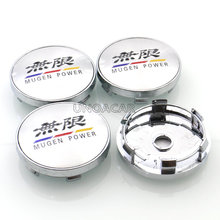 4pcs/lot 60mm Mugen logo Auto Car Wheel Center Hub Caps #030 Fit For Honda Accessories Styling Good Quality(China)