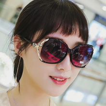IVE metal flower glasses arm not fade Women Sunglasses Brand designer Sun Glasses uv400 oversize wholesale 9825