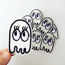 1Pcs Mini Ghost Embroidered Patch Iron on Sewing Applique Fabric Patch Clothes Shoes Bags Decoration DIY Apparel Accessories