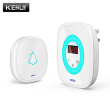 2017 KERUI M526 58 Songs Wireless Touch Flash Light Remote Control Waterproof Doorbell Door Bell 5 Levels Volume Night Light