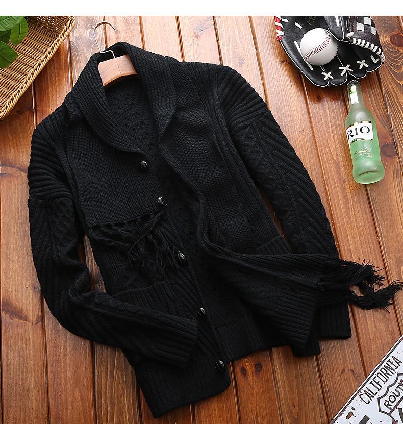 Winter Men Cardigan Coat Thicken Loose Fit Warm Turtleneck Sweater Men Autumn Knited Male Sweatercoat Black Brand Muls M-4XL-07