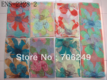 FREE SHIPPING,leaves printed scarf,ladies scarf,big size 110*180cm,2012 new design,voile scarf,fashon shawl,muslim hijab(China)