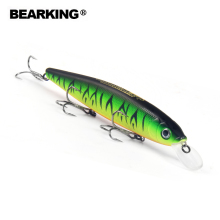 Bearking 2018 Tungsten ball fishing lures minnow,quality professional baits 13cm/25g hot model crankbaits penceil bait popper(China)
