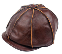 Adult Popular Men's Fashion Winter Leather Caps Octagonal Cap Casual Vintage Newsboy Cap Golf Driving Hat Artist Hat