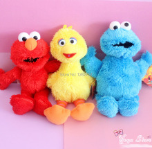 Free Shipping EMS 100/Lot 24CM Sesame Street Plush Elmo Big Bird Monster For Kids Gift Doll Figure(China)
