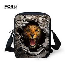 Mini Boys Messenger Bags Cool Animal Tiger Bear Lion Print Men's Crossbody Bag High Children Kids Travel Bag Single Shoulder Bag