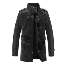 Leather Jacket Men Brand Motorcycle Artificial Jaqueta de Couro Masculina Faux Fur Liner Mens Leather Jackets and Coats 3XL(China)