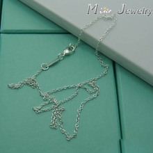 High Quality 925 Silver Necklaces Chain Necklaces Jewelry For Valentine day Gift